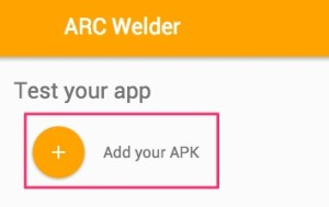 add apk in arc welder
