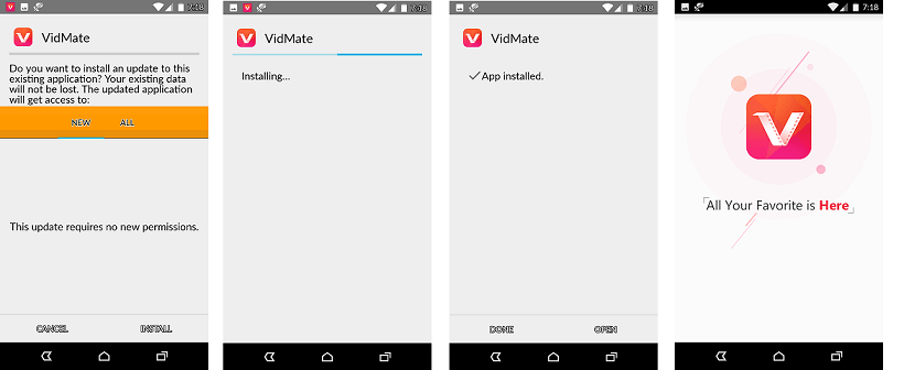 Vidmate app download install vidmate app for android 2017 2018 vidmate is available for free of cost and runs easily without any glitches on any device the detailed process and procedure to download and install vidmate stopboris Image collections